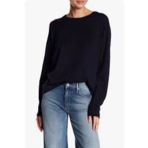 Zara Black Cable Knit Ribbed Sweater size XL